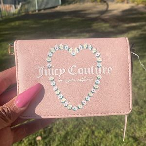 JUICY COUTURE pink card holder , NWT